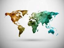 Mappa di mondo Fotografia Stock