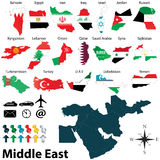 Maps of Middle East Royalty Free Stock Photos
