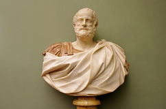 Marble bust of the roman emperor Stock Photos