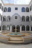 Marble fountain in arabic style patio(Morocco) Royalty Free Stock Photos