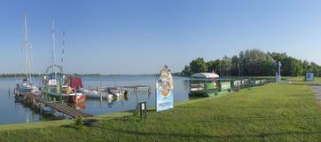 Marina from the Palic Lake Stock Image