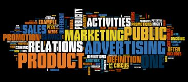 Marketing background Royalty Free Stock Images