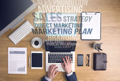Marketing and business concepts Royalty Free Stock Photography