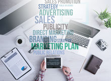 Marketing and business concepts Royalty Free Stock Photos