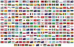 Markierungsfahnen der Welt Lizenzfreie Stockfotografie