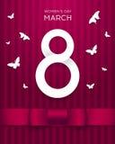 8 mars carte de voeux de vecteur Images libres de droits