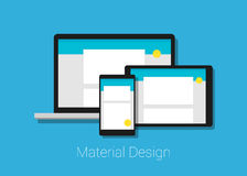 Material deign responsive interface layout Royalty Free Stock Photo