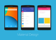 Material design phone lolipop Stock Photo