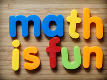 Math is fun concept Stock Image