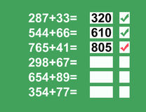 Math Problems Equation Stock Photos