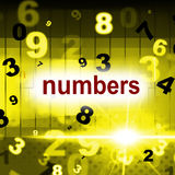 Mathematics Numbers Shows One Two Three And Calculate Royalty Free Stock Image