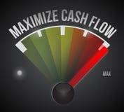 Maximize cash flow mark illustration design Royalty Free Stock Photos
