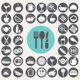 Meal and food icons set. Royalty Free Stock Image