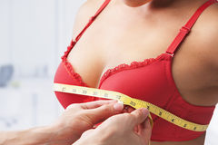 Measuring bust size Royalty Free Stock Images