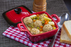 Meat balls soup Stock Photo