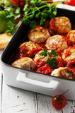 Meat balls with tomato sause Stock Photo