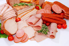 Meat and sausages Royalty Free Stock Image