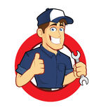Mechanic with Circle Shape Stock Photography