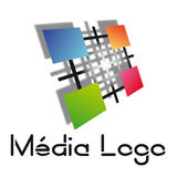 Media logo Stock Photo