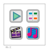 MEDIA: O ícone ajustou 06 - a versão 2 Foto de Stock Royalty Free