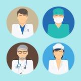 Medical avatars set Royalty Free Stock Images