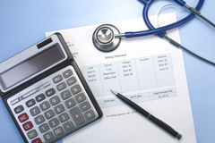 Medical Bill Royalty Free Stock Images