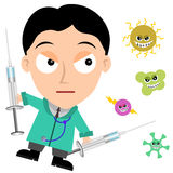 Medical fight Royalty Free Stock Photo