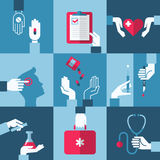 Medical and health care design elements. Vector illustration Royalty Free Stock Photography