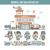 Medical and healthcare elements Stock Photo