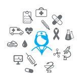 Medical icons set Stock Photos