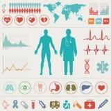 Medical Infographic set Royalty Free Stock Photos