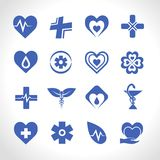 Medical Logo Blue Stock Images