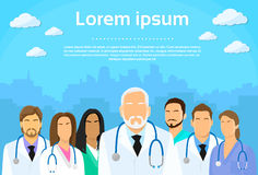 Medical Team Doctor Group Flat Profile Icon Royalty Free Stock Image