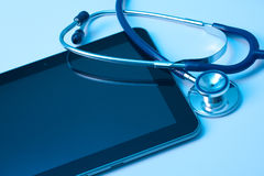 Medicine and new technology Royalty Free Stock Images