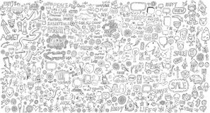 Mega Doodle Design Elements Vector Set Stock Photography