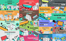 MEGA PACK of Design Concepts for business strategy Royalty Free Stock Photography