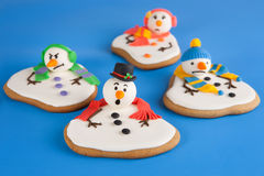 Melted snowman cookies Stock Photo