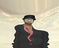 Melting Scene of man in dark suit Stock Photo