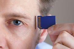Memoria ed aggiornamento del cervello Fotografia Stock Libera da Diritti