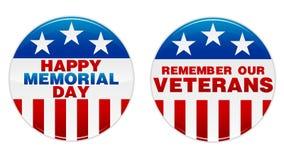 Memorial Day Badge Royalty Free Stock Photo
