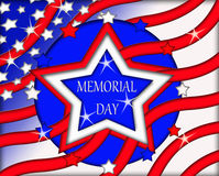 Memorial Day Flag Sign Banner Stock Images