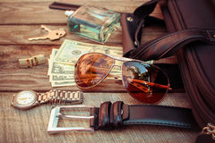 Men accessories Royalty Free Stock Images