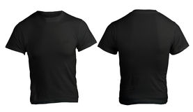 Men's Blank Black Shirt Template Stock Photo