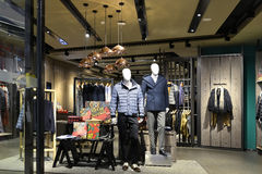 Men's clothing store Stock Images