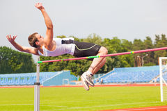 Men's high jump Royalty Free Stock Images