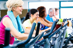Men and women doing fitness spinning for sport Royalty Free Stock Photos