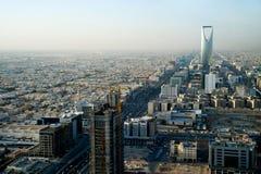 Mening van Riyadh en van het Koninkrijk toren Stock Foto