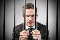 Mens in gevangenis Stock Foto