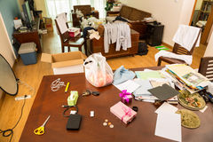Messy room Royalty Free Stock Image