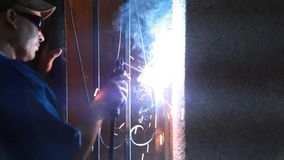 Metal Cutting Video stock video